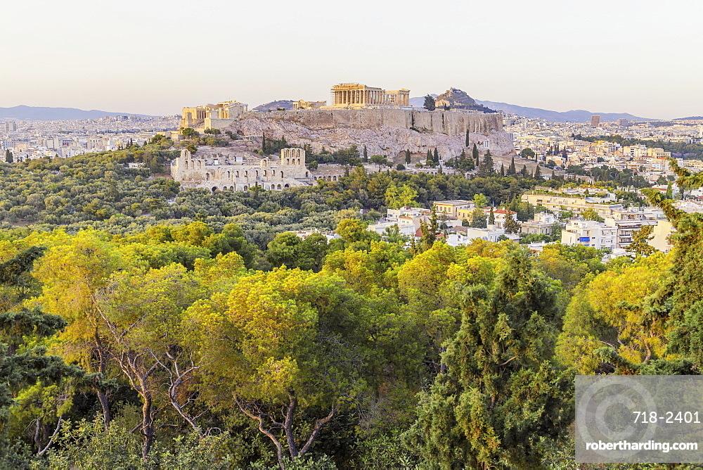 Acropolis of Athens, UNESCO World Heritage Site, Athens, Greece, Europe
