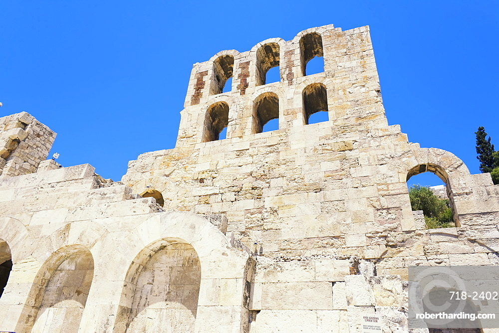 Odeon of Herodes Atticus at South Slope of Acropolis, Athens, Greece, Europe