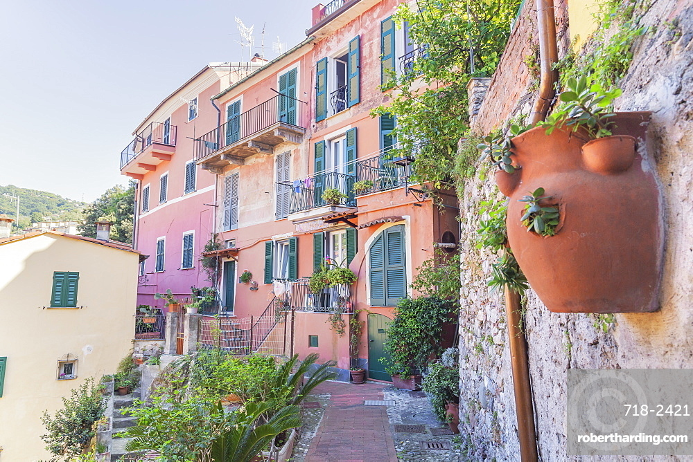 Historic district, Lerici, La Spezia district, Liguria, Italy, Europe