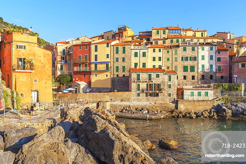 View of Tellaro village, Lerici, La Spezia district, Liguria, Italy, Europe