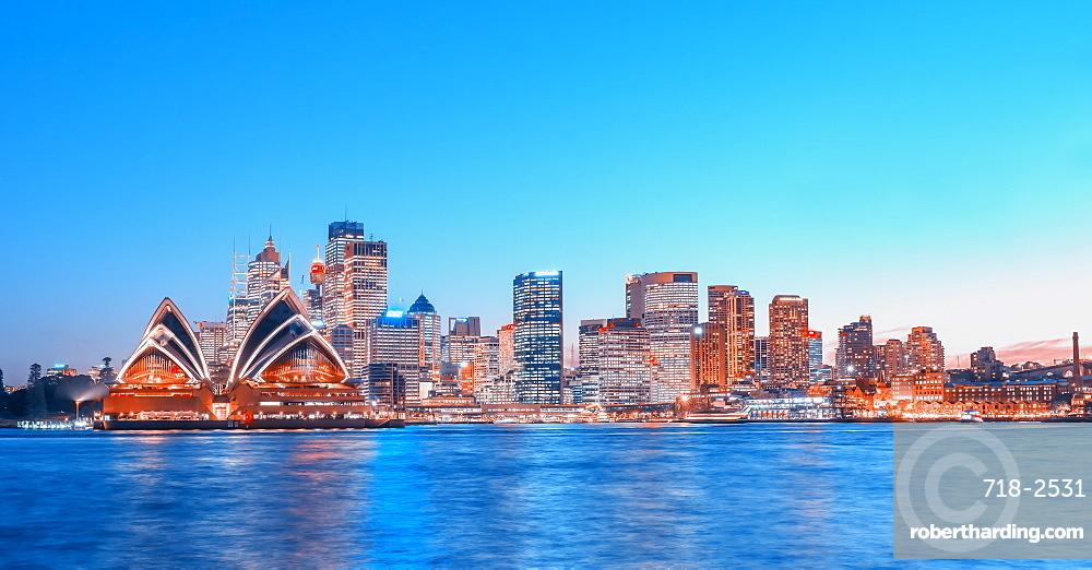 Central Business District skyline, Sydney, New South Wales, Australia,