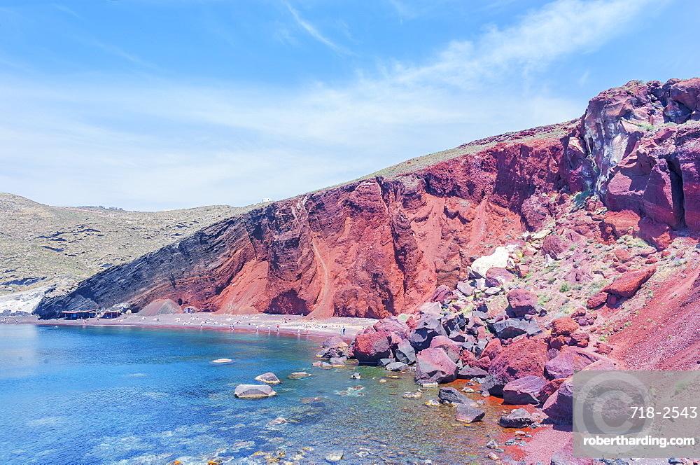 Red Beach, Santorini; Cyclades Islands ,Greek Islands, Greece