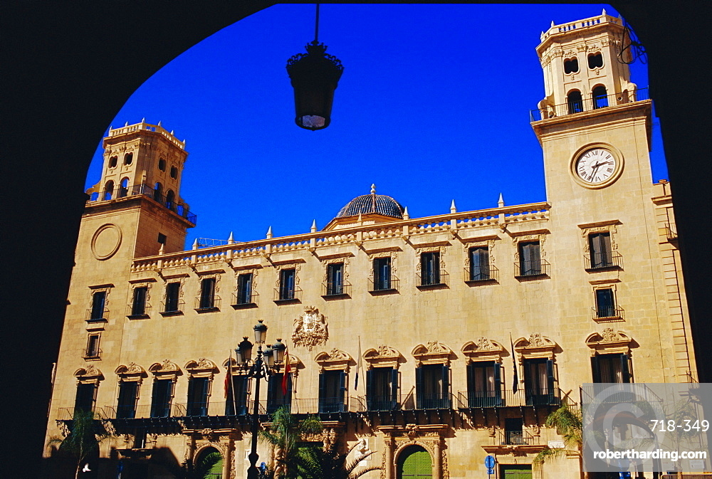 Placa de l'Ayunamento, Town Hall Square, Alicante, Spain, Europe