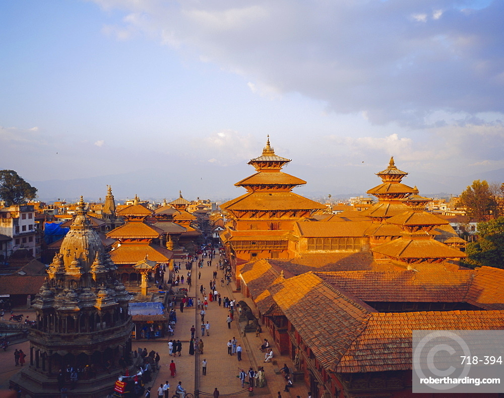 Aerial view of Durbar Square, Patan, Nepal