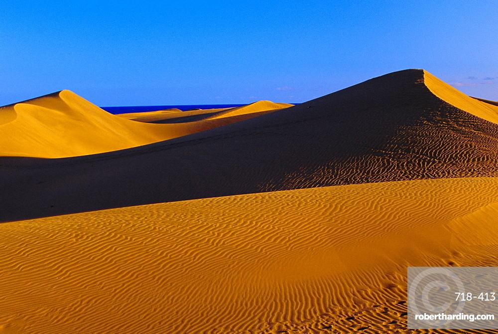 Sandy dunes, Maspalomes, Gran Canaria, Canary Islands, Spain