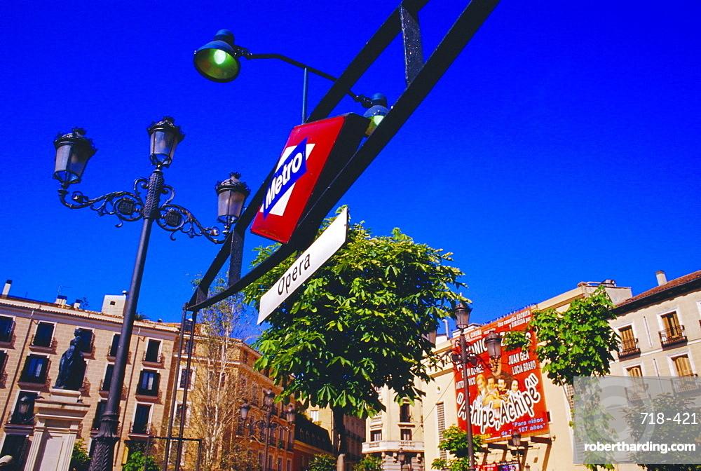 Metro sign, Madrid, Spain