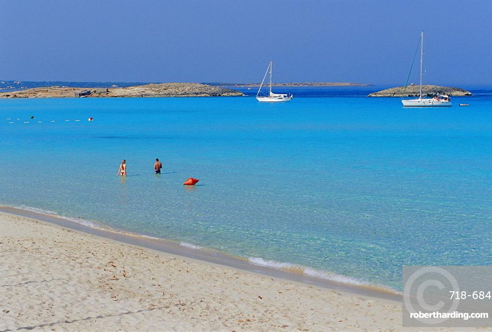 Playa de ses Illetes, beach, Formentera, Balearic Islands, Spain