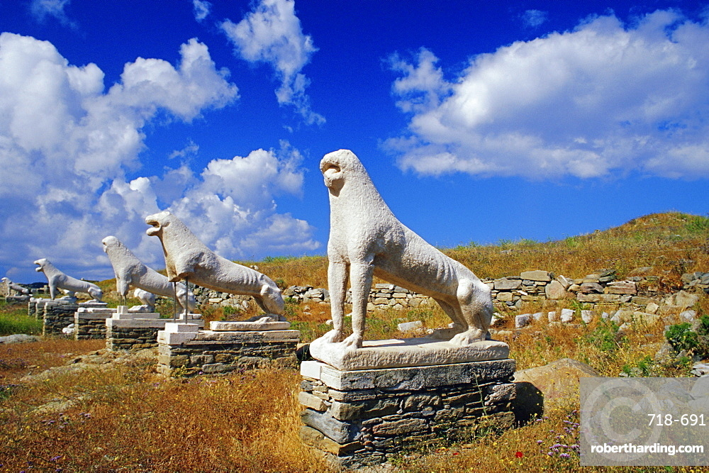 Naxian lion statues, Delos, Cyclades Islands, Greece