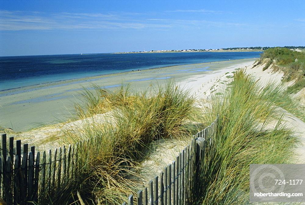 Luzeronde beach and Pointe de l'Herbaudiere, Noirmoutier-en-Ile, Island of Noirmoutier, Vendee, France