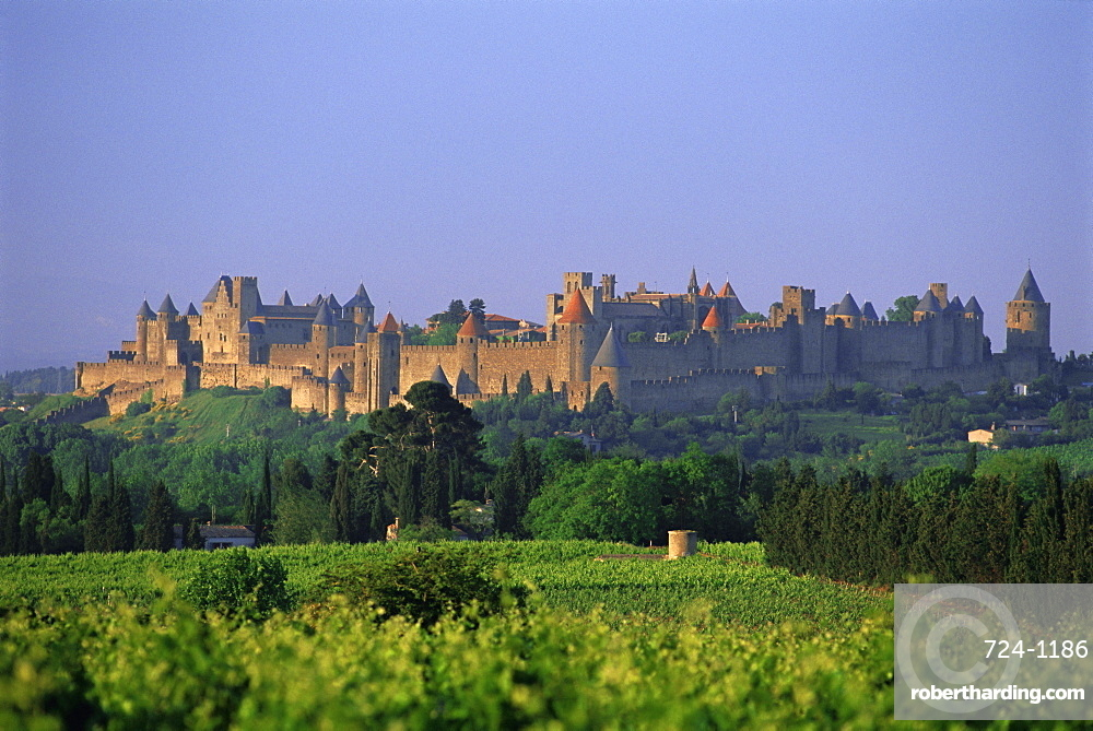 The medieval city of Carcassonne, Aude, Languedoc-Roussillon, France, Europe