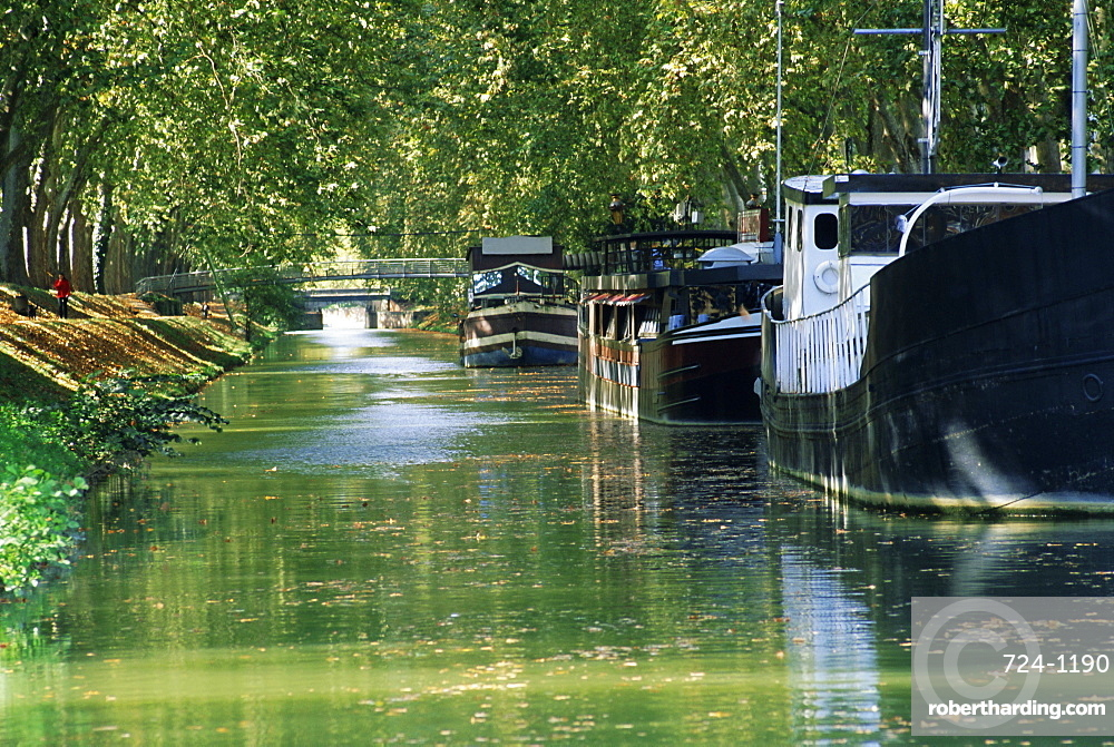Brienne Canal, Toulouse, Haute-Garonne, Midi-Pyrenees, France, Europe