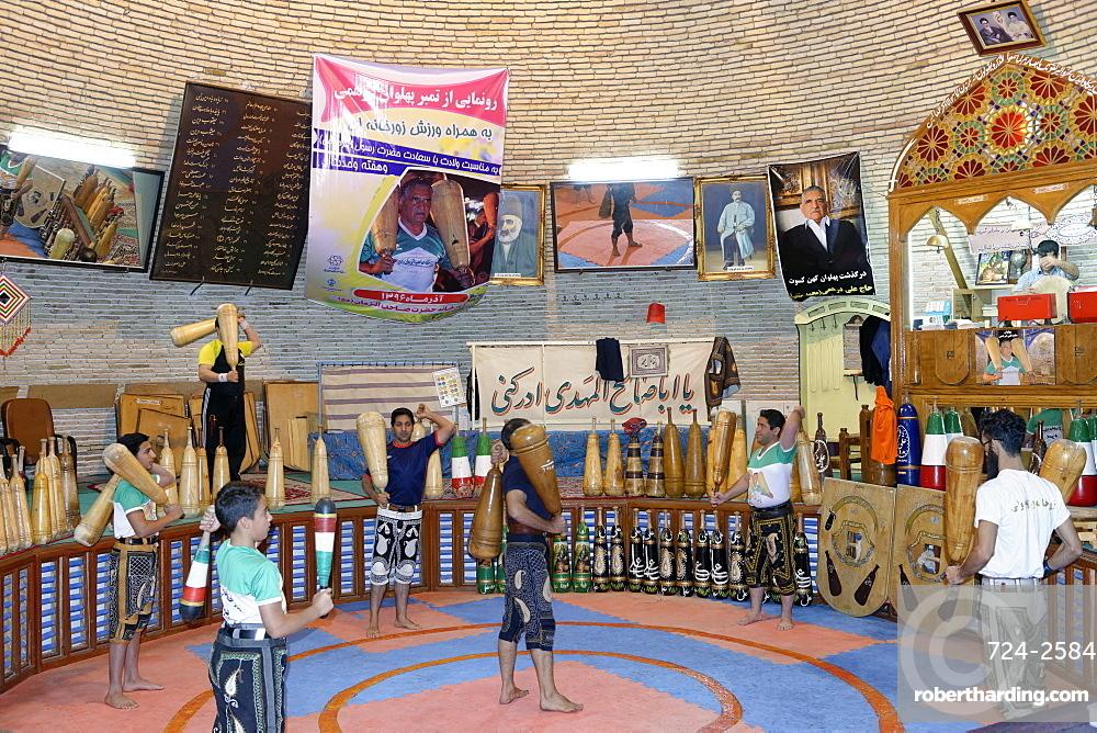 Zurkhaneh, traditional Iranian gymnasium, Yazd city, Iran, Middle East