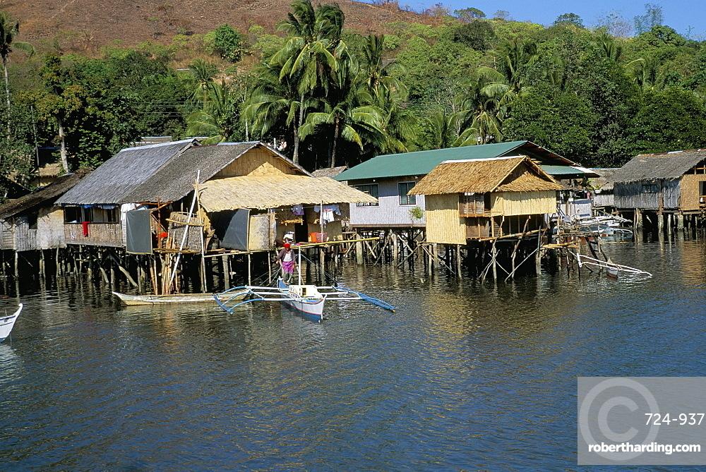 Village of Coron, island of Busuanga, Calamian archipelago, Palawan, Philippines, Southeast Asia, Asia