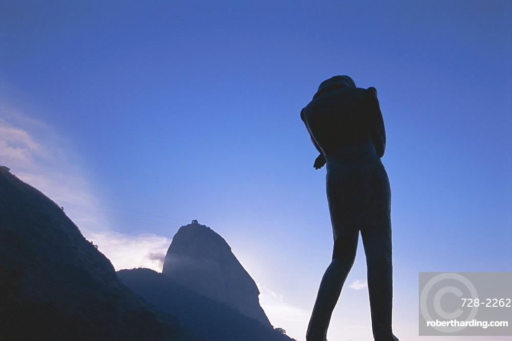 Statue, Sugar Loaf, Rio de Janeiro, Brazil, South America
