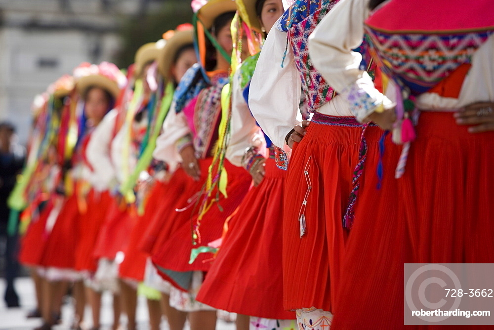 Dancers at Carnival, Sucre, Bolivia, South America