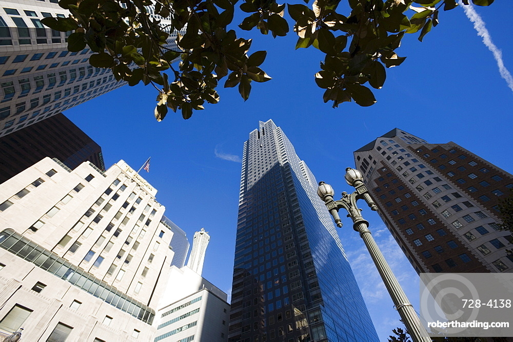 Buildings on Pershing Square, Los Angeles, California, United States of America, North America