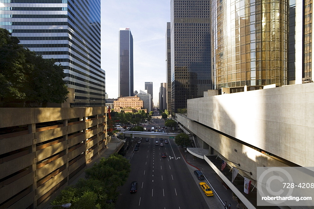 Flower Street, Downtown, Los Angeles, California, United States of America, North America