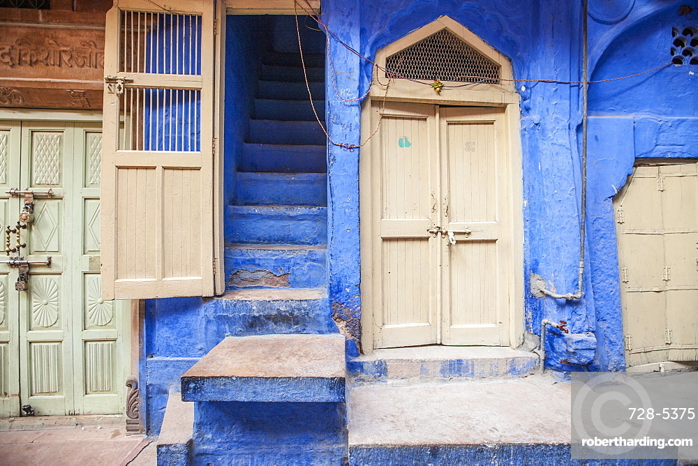 Doorways and stairs, Jodhpur, Rajasthan, India, Asia