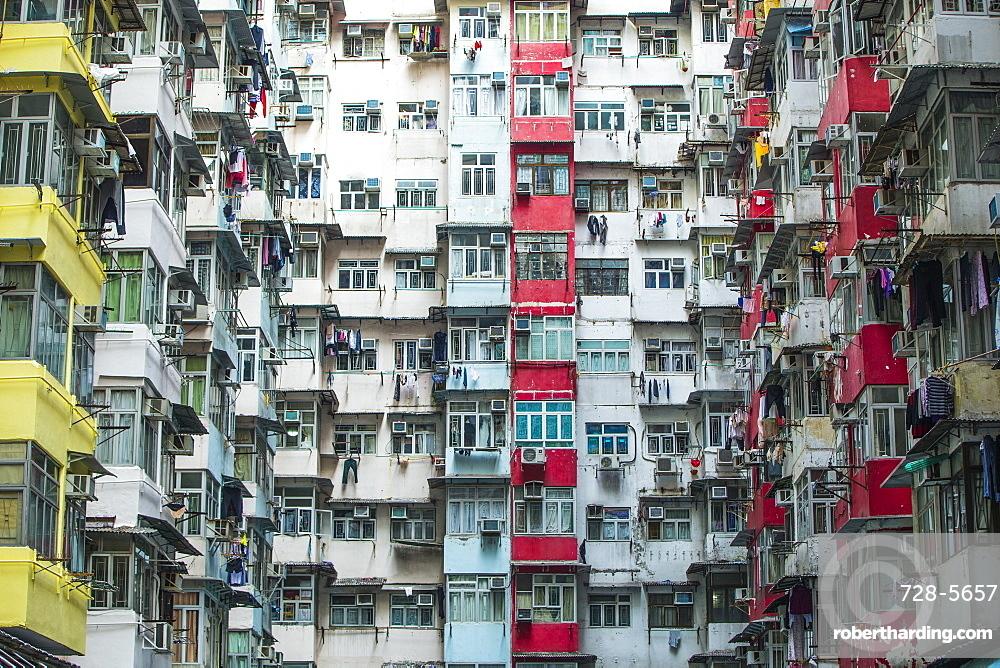 High density apartment block, Hong Kong, China, Asia