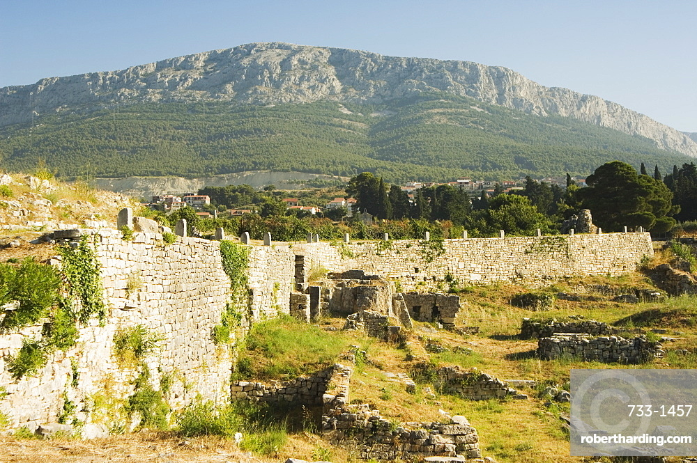 Archaeological ruins of the ancient city of Solin (known as Salona by the Romans), Split, Dalmatia Coast, Croatia, Europe