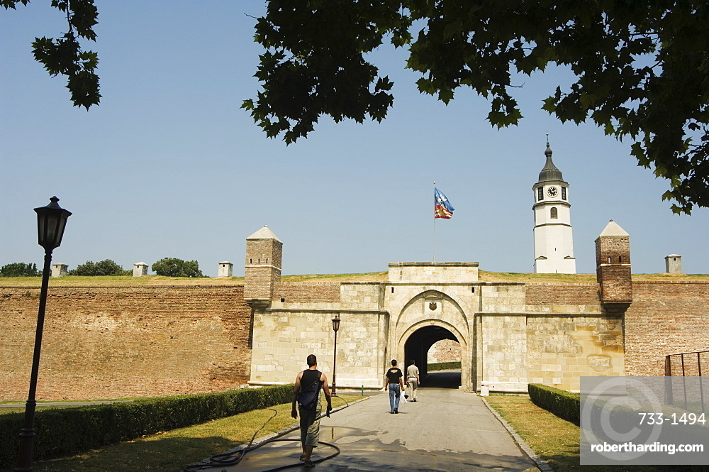 Grounds of the Kalemegdan Citadel, fortifications dating from Celtic and Roman times, Belgrade, Serbia, Europe