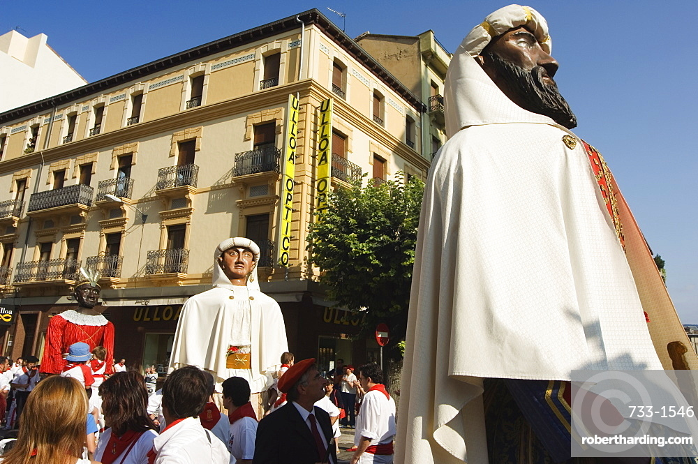 Giants and Big Heads Parade during San Fermin, Running of the Bulls Festival, Pamplona, Navarra, Euskadi, Spain