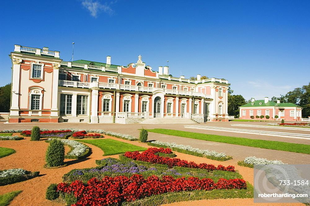 Garden at Kadriorg Palace, residence of the president of Estonia, Tallinn, Estonia, Baltic States, Europe