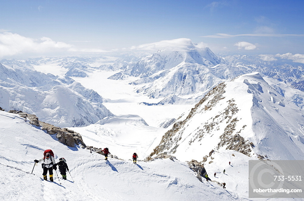 Climbing expedition on Mount McKinley, 6194m, Denali National Park, Alaska, United States of America, North America