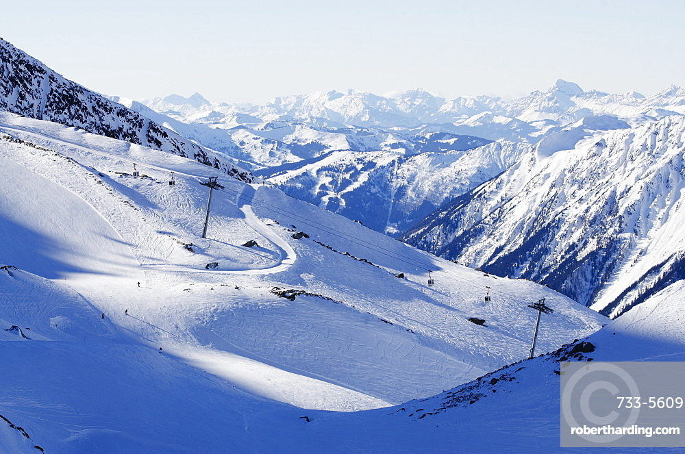 Argentiere and Grand Montet ski area, Chamonix Valley, Haute-Savoie, French Alps, France, Europe