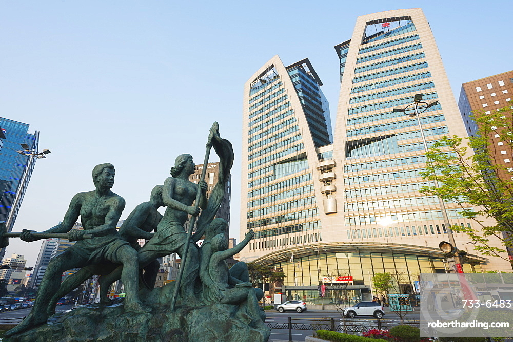 Post Office tower building in Post Office Square, Seoul, South Korea, Asia