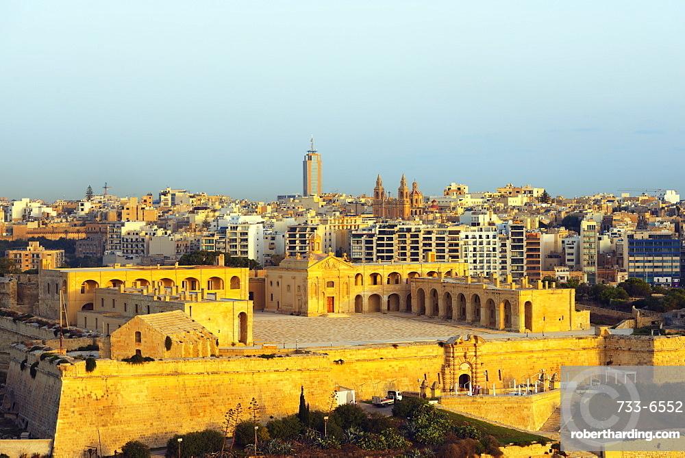 The 18th century Fort Manoel, Manoel Island, Valletta, Malta, Mediterranean, Europe