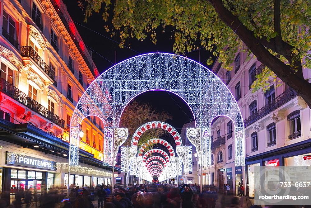 Fete des Lumieres (Festival of Lights), Lyon, Rhone-Alpes, France, Europe
