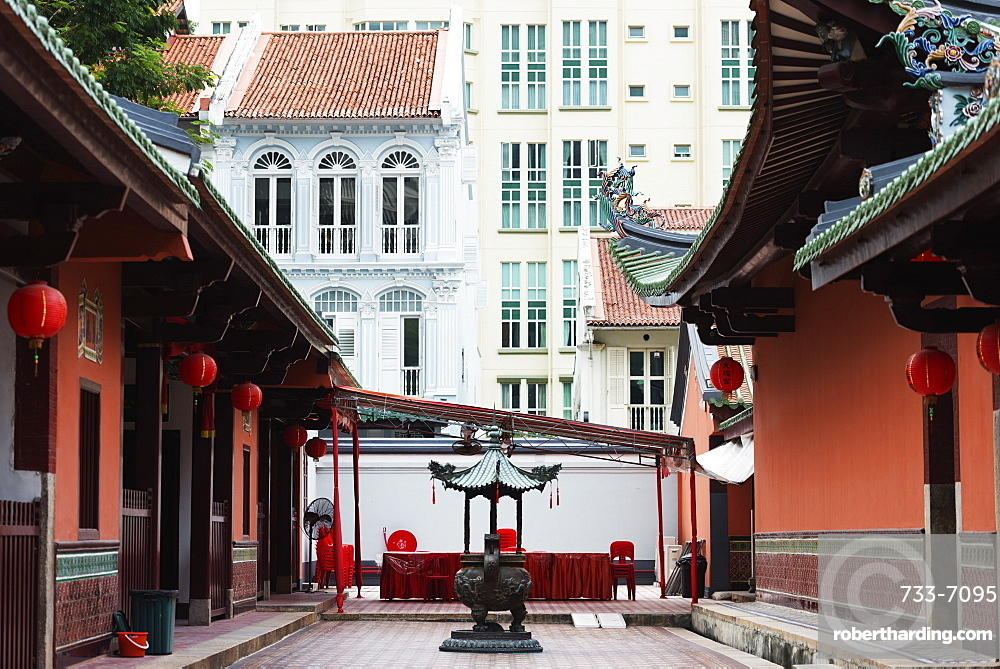Thian Hock Keng Temple, Chinatown, Singapore, Southeast Asia, Asia