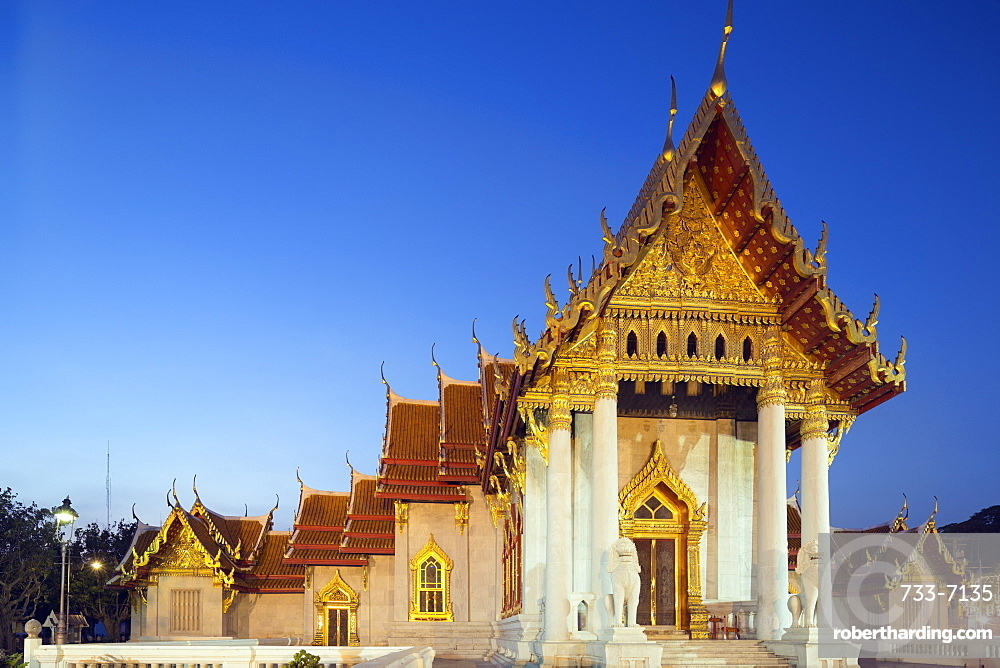Wat Benchamabophit (The Marble Temple), Bangkok, Thailand, Southeast Asia, Asia