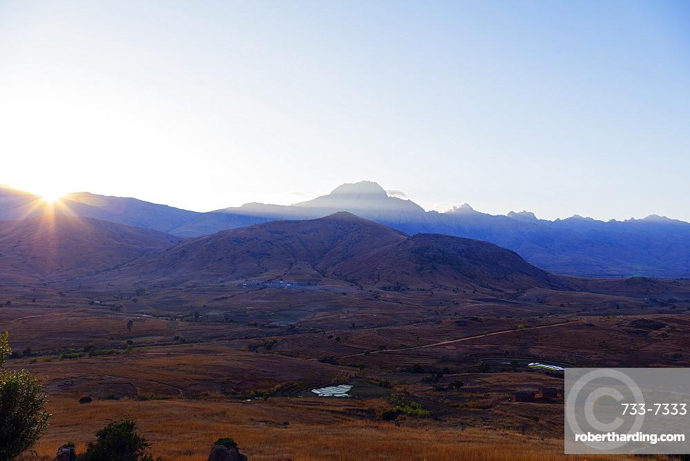 Sunrise, Tsaranoro Valley, Ambalavao, central area, Madagascar, Africa