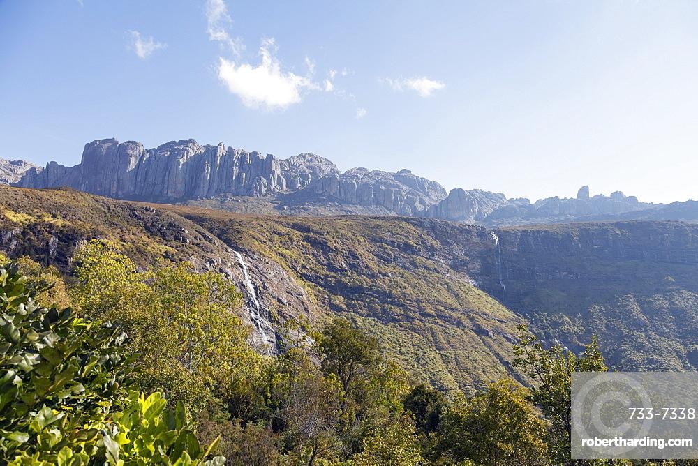 Waterfall, Andringitra National Park, Ambalavao, central area, Madagascar, Africa