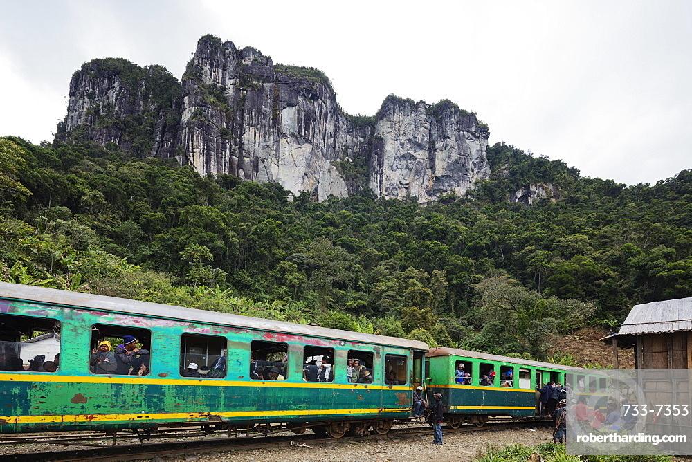 Fianarantsoa to Manakara FCE train, eastern area, Madagascar, Africa