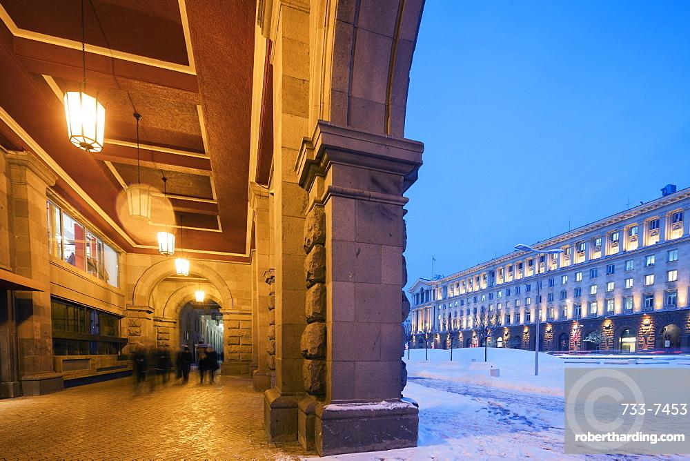 Snow on the streets, Sofia, Bulgaria, Europe