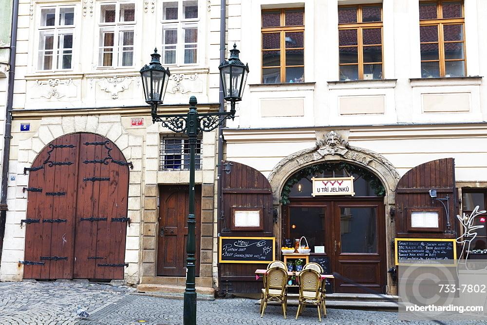 Street cafe, Prague, Czech Republic, Europe