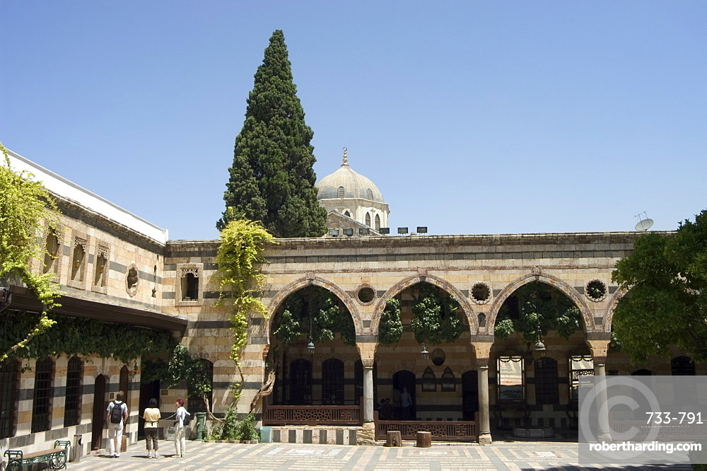 Courtyard of Azem Palace, Damascus, Syria, Middle East