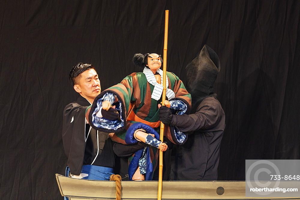 Nihon Bunraku puppet theatre performance, Tokyo, Japan, Asia