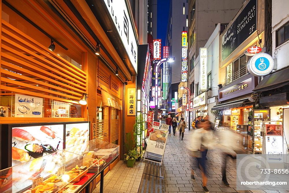 Sushi restaurant, Kabukicho, Shinjuku, Tokyo, Japan, Asia