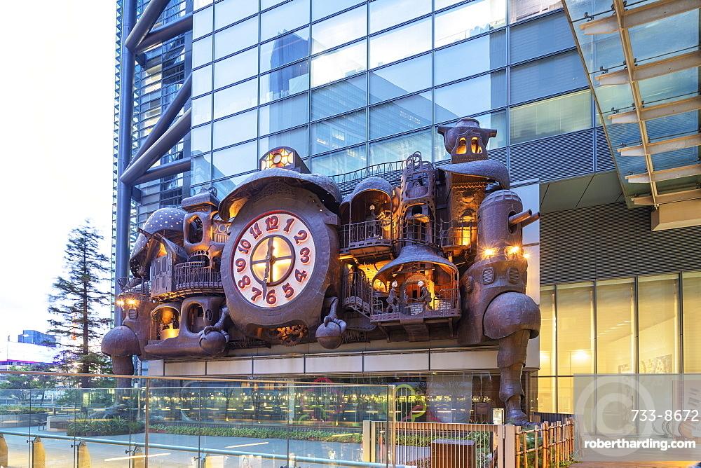 Shiodome, Hayao Miyazaki's Giant musical Ghibli Clock, Tokyo, Japan, Asia