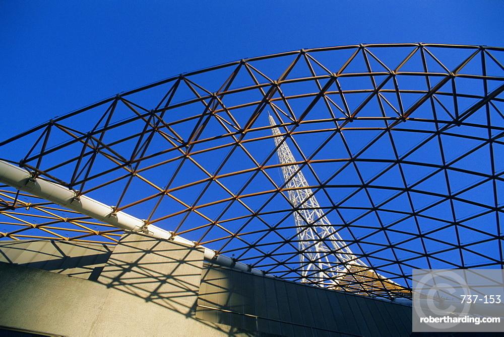 Spire and facade of Melbourne's Art Centre, Melbourne, Victoria, Australia