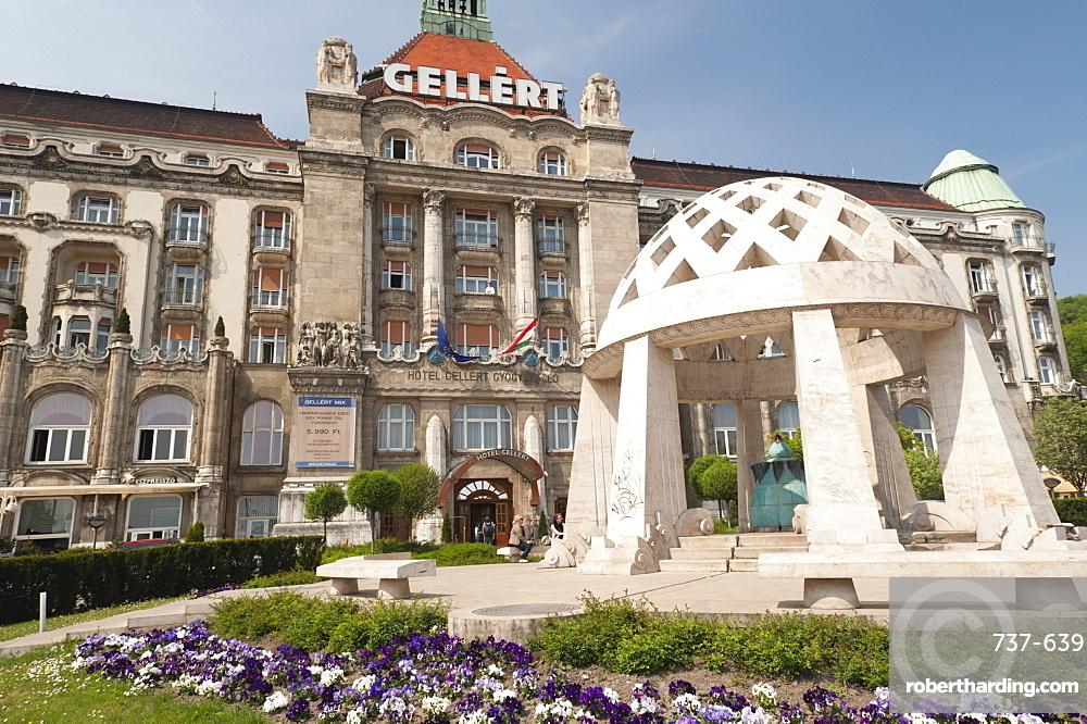 Hotel Gellert outside of Gellert Baths, Budapest, Hungary, Europe
