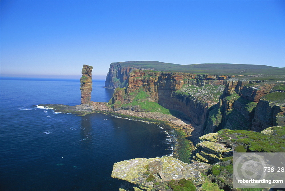 The Old Man of Hoy, 150m sea stack, Hoy, Orkney Islands, Scotland, UK, Europe