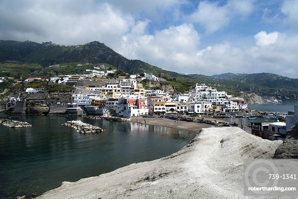 View of borgo Saint'Angelo, Island of Ischia, Campania, Italy, Europe