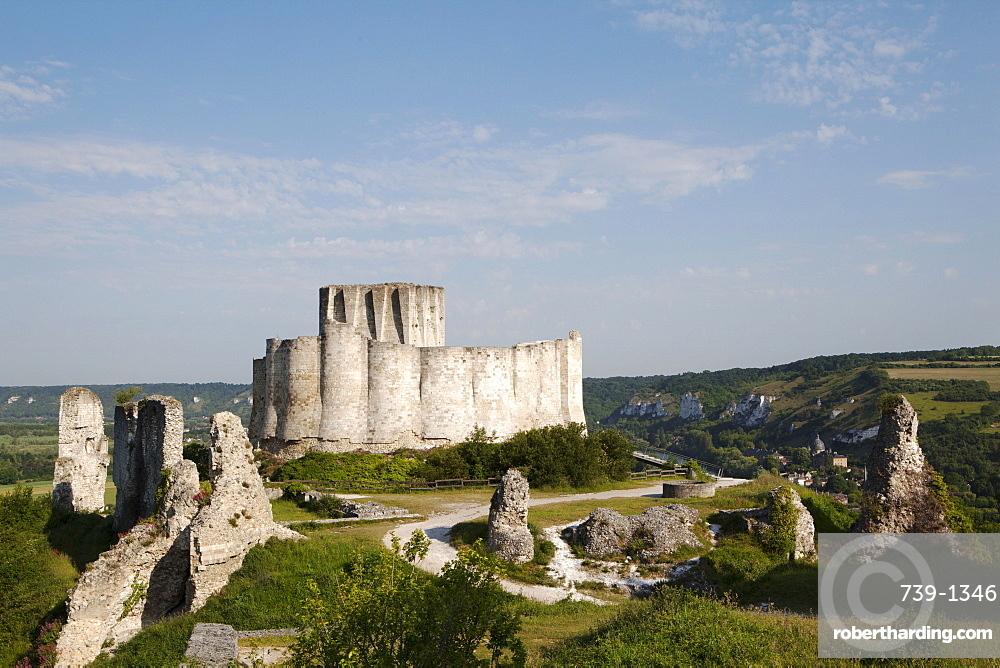 Chateau Gaillard, Les Andelys, Normandy, France, Europe