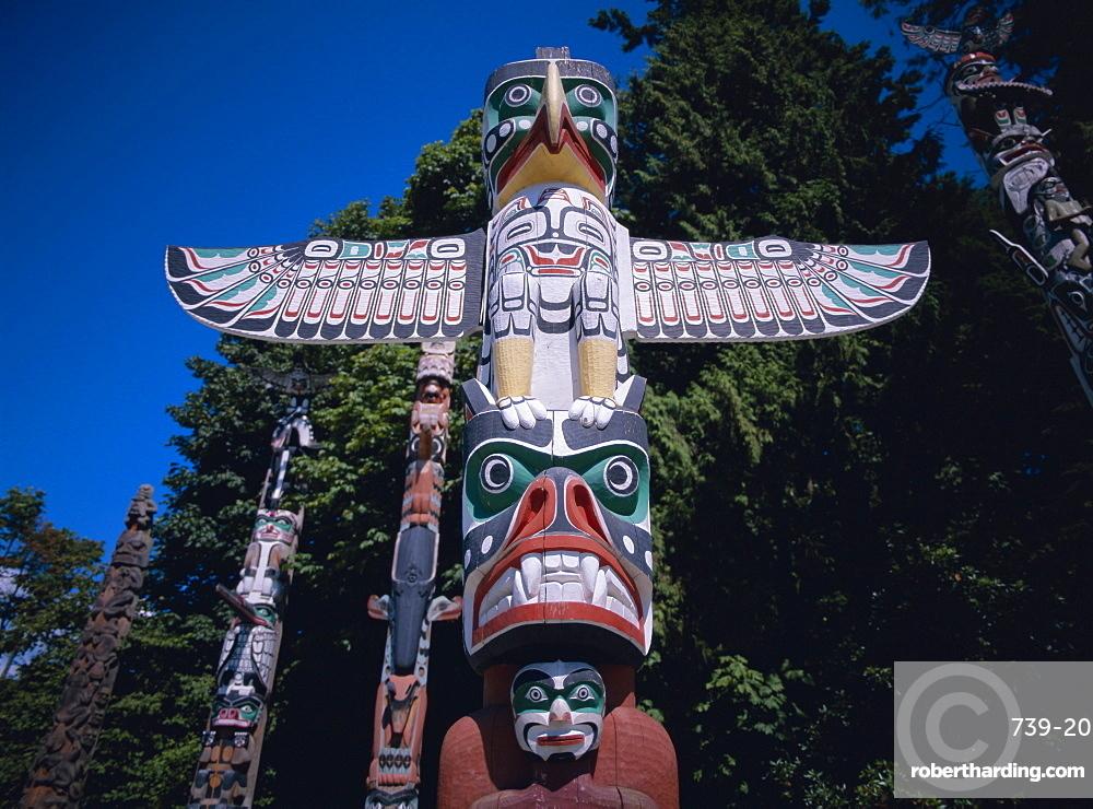 Totems, British Columbia (B.C.), Canada, North America