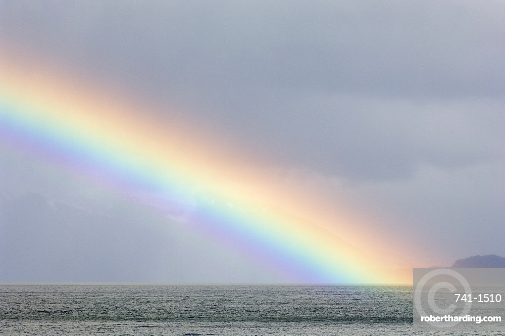 Rainbow, Agostini Fjord, Tierra del Fuego, Patagonia, Chile, South America